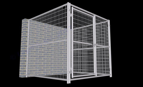 Image of Rhino Dog Kennel Indoor/Outdoor 6'W x 6'L x 6'H