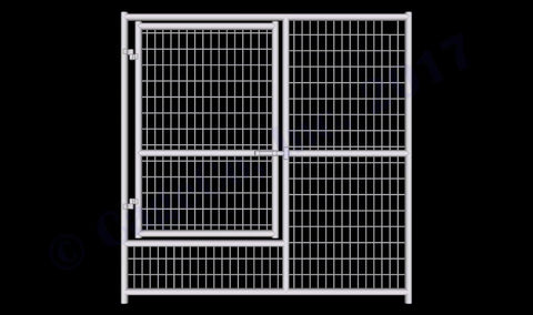 Image of Rhino Dog Kennel Gate Panel Heavy Duty Galvanized Welded Wire Whelping Gate Panel