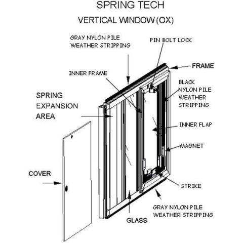 Image of Hale Pet Door SpringTech Cat - www.peterspetsupplies.com