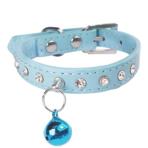 Elastic Diamond Cat Collar with Bell - www.peterspetsupplies.com