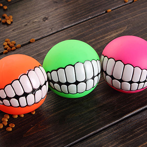 PVC Chew Ball Toy With Teeth For Dogs
