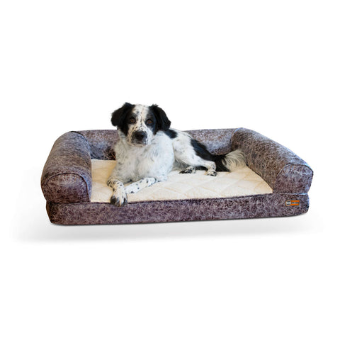Image of K&H Pet Products Bomber Memory Dog Sofa - www.peterspetsupplies.com