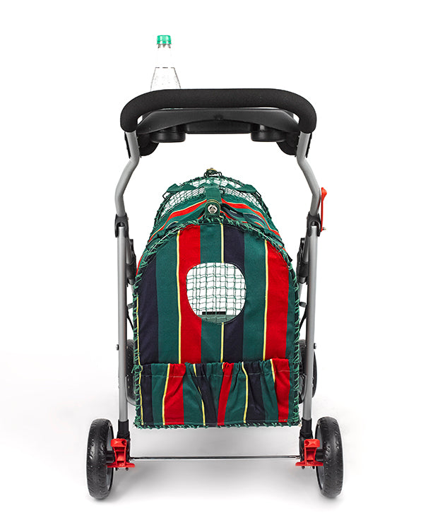 Kittywalk Original Stripe Pet Stroller - www.peterspetsupplies.com