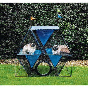 Kittywalk Ferris Wheel Outdoor Cat Enclosure - www.peterspetsupplies.com