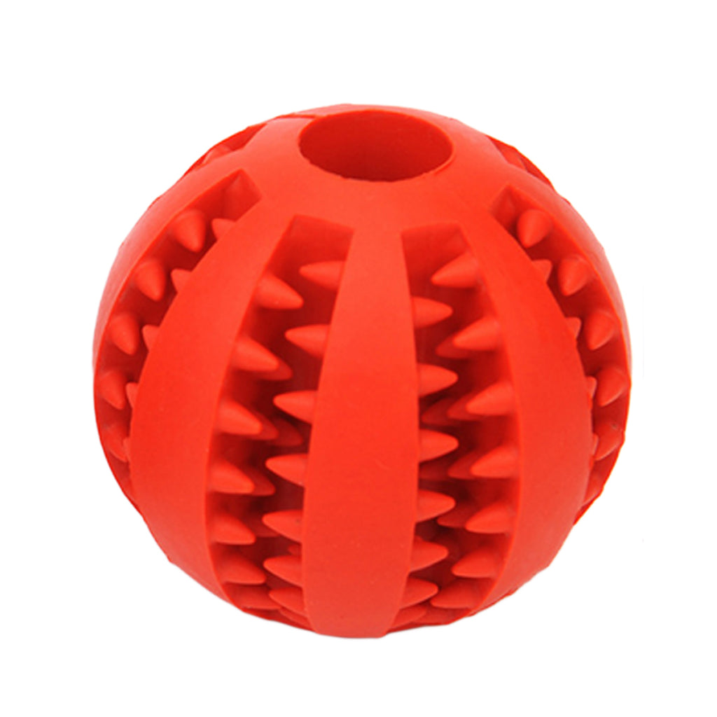 Small Rubber Ball Natural Non-toxic Pet Dog Bite Resistant Teeth Cleaning Chew Toy