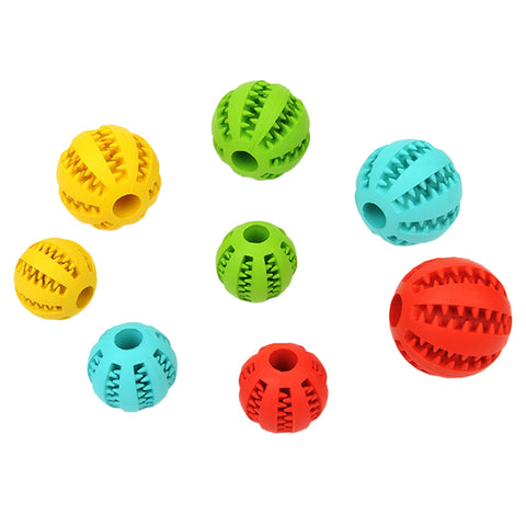 Image of Small Rubber Ball Natural Non-toxic Pet Dog Bite Resistant Teeth Cleaning Chew Toy