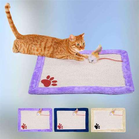 Image of Cat Scratching Mat With Toys