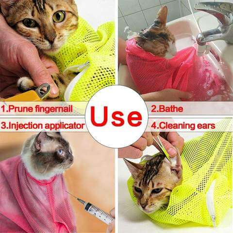 Image of Mesh Bathing Bag for Cats - www.peterspetsupplies.com