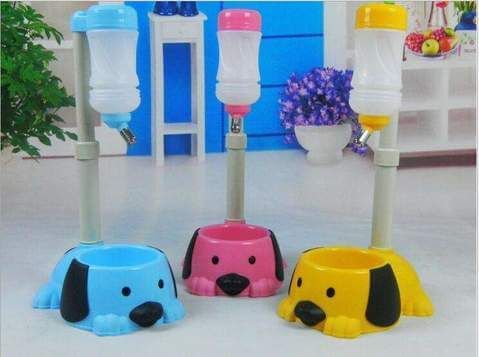 New Pet Bowl Auto Adjustable Dog Cat Drinking Fountain Food Water Dispenser - www.peterspetsupplies.com