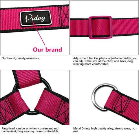 No Pull Dog Harness Adjustable Step In Walking Pet Harnesses for Large Dogs - www.peterspetsupplies.com