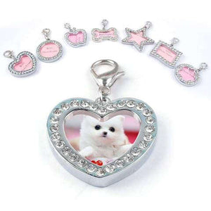 Personalized Pet Id Tag Luxury Crystal Decorated for Cats  & Dogs