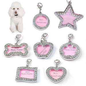 Personalized Pet Id Tag Luxury Crystal Decorated for Cats  & Dogs - www.peterspetsupplies.com