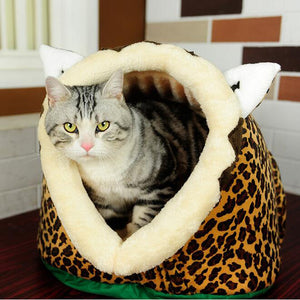 Lion Leopard Giraffe Style Pet Bed for Cats and Dogs