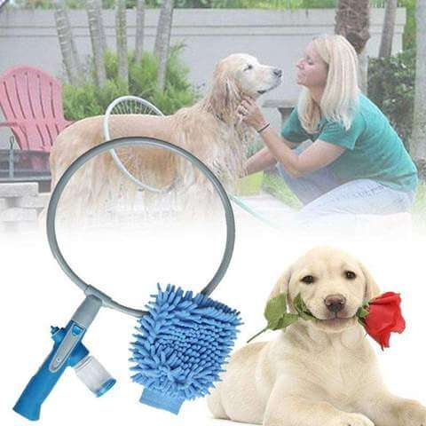 Image of Pet Dog Cat Bathing Cleaner 360 Degree Shower Sprayer Tool - www.peterspetsupplies.com