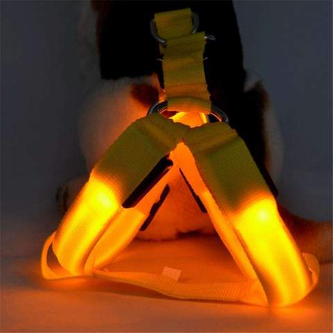 Safety LED Flashing Dog Harness Adjustable