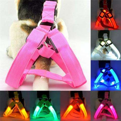 Image of Safety LED Flashing Dog Harness Adjustable