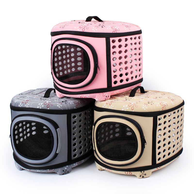 Pet Bed House Travel Carrier Bag For Cats & Dogs Three Colors - www.peterspetsupplies.com
