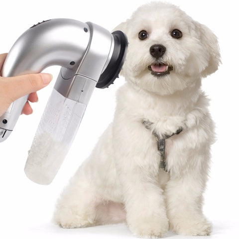 Image of Cordless Pet Hair Vacuum Fur Grooming Device for Cats & Dogs - www.peterspetsupplies.com