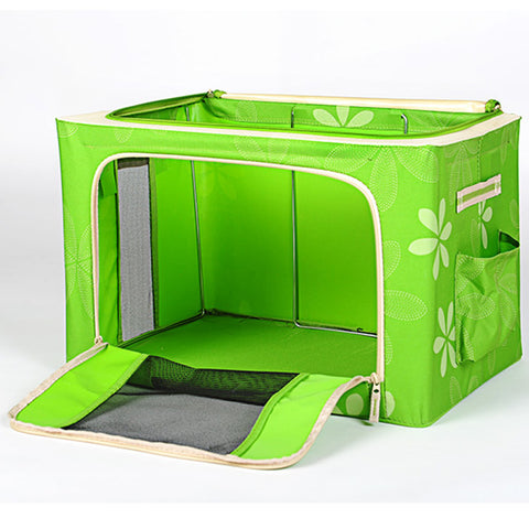 Pet Travel Carrier Green And Orange Tote - www.peterspetsupplies.com