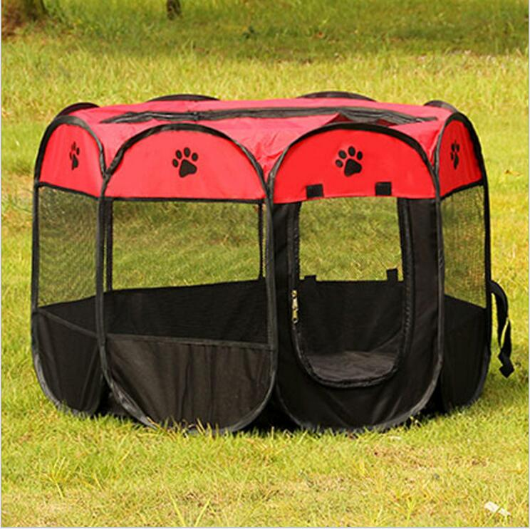 Portable Folding Dog House Pet tent Cage Dog Octagonal