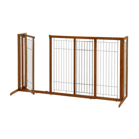 Image of Deluxe Freestanding Pet Gate with Door - www.peterspetsupplies.com
