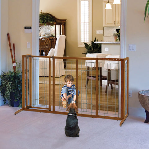 Deluxe Freestanding Pet Gate with Door - www.peterspetsupplies.com