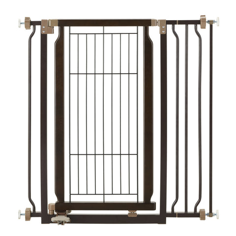 Image of Hands-Free Pressure Mounted Pet Gate - www.peterspetsupplies.com