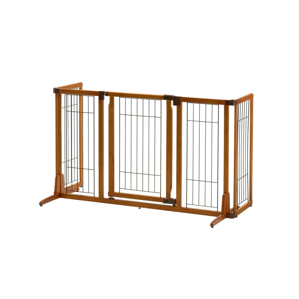 Wide Premium Plus Freestanding Pet Gate with Door - www.peterspetsupplies.com