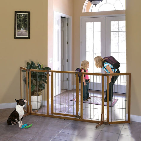 Image of Wide Premium Plus Freestanding Pet Gate with Door