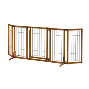 Wide Premium Plus Freestanding Pet Gate with Door