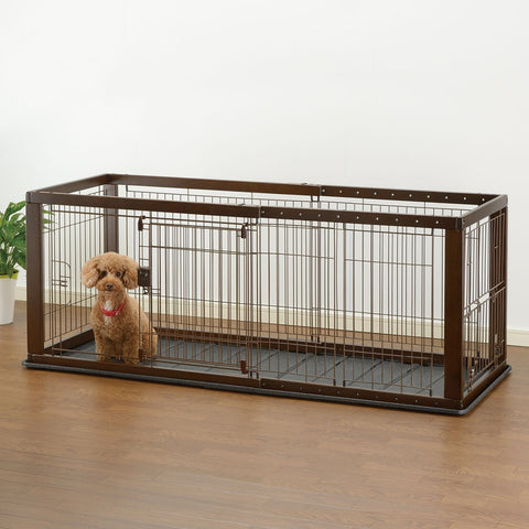 Expandable Pet Crate with Floor Tray - www.peterspetsupplies.com