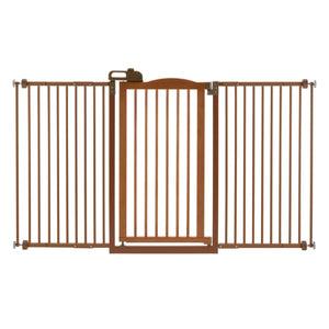 One-Touch Tall and Wide Pressure Mounted Pet Gate II - www.peterspetsupplies.com