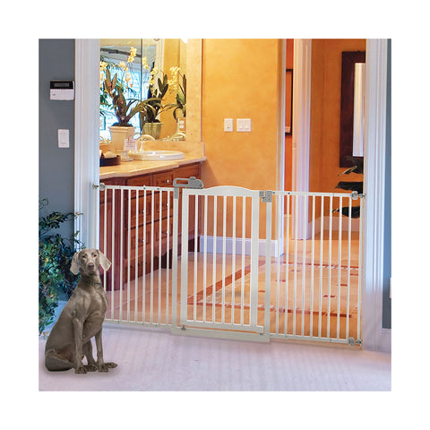 Image of Tall and Wide One-Touch Pressure Mounted Pet Gate