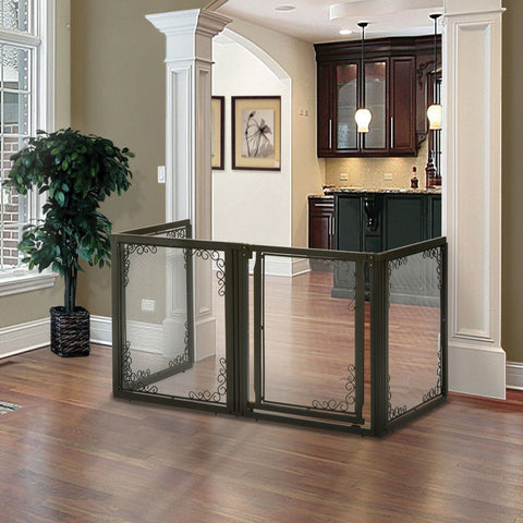 Image of Convertible Elite Mesh Pet Gate 4 Panels - www.peterspetsupplies.com