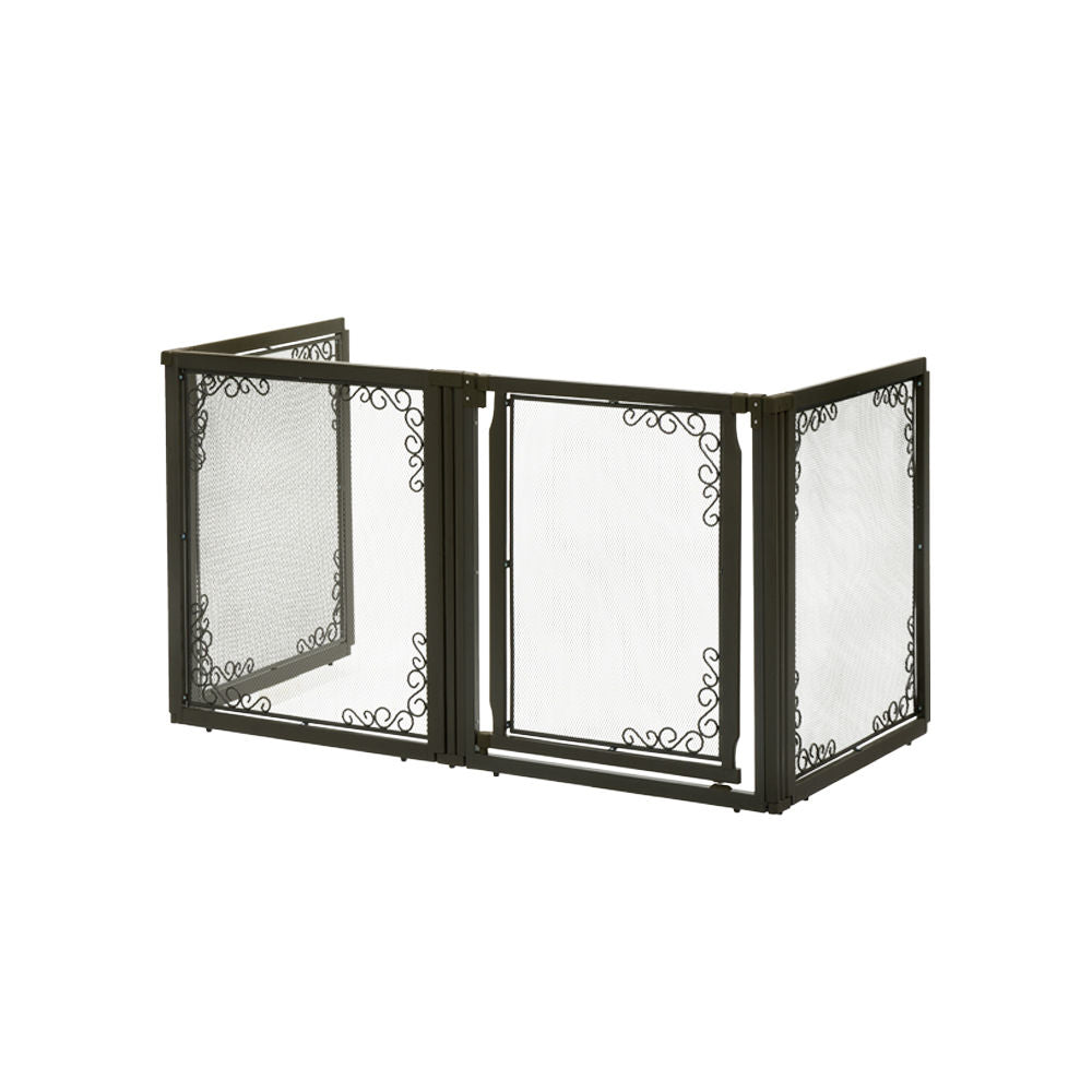 Convertible Elite Mesh Pet Gate 4 Panels - www.peterspetsupplies.com