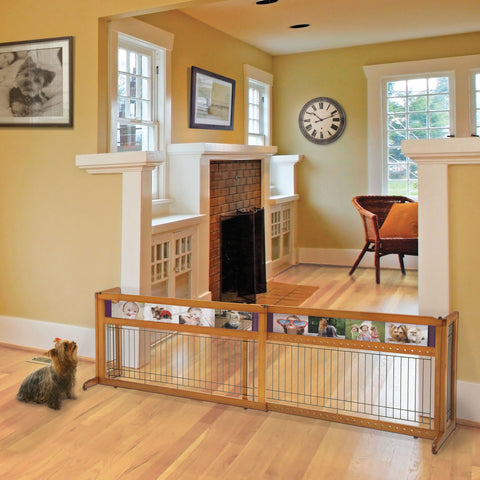Picture It Here Freestanding Pet Gate