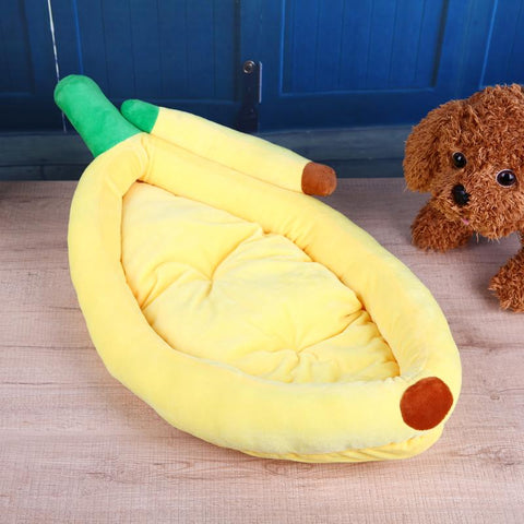 S/M/L Warm Soft Banana Shape Dog House Sleeping Bed for Small Medium Large Dogs