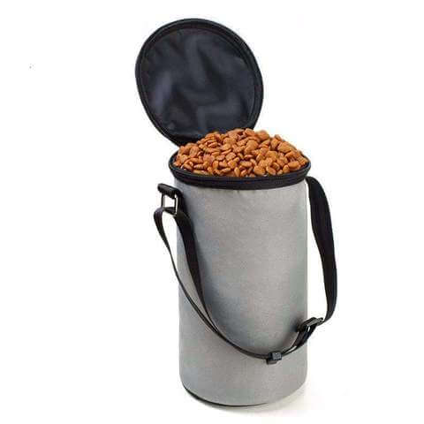 Image of Collapsible Dog Travel Dry Food Container Waterproof Bag 3 Colors - www.peterspetsupplies.com