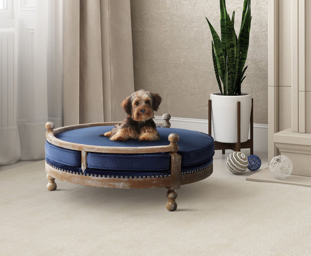 Hound Navy Pet Bed - www.peterspetsupplies.com