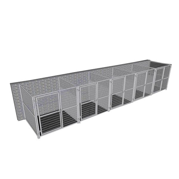 Rhino Dog Kennel Indoor/Outdoor with 5-Run 6'W x 6'L x 6'H