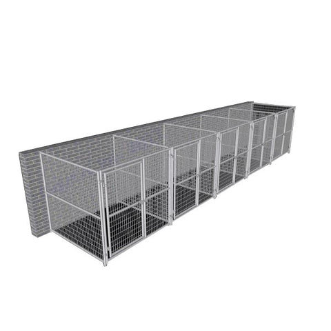 Image of Rhino Dog Kennel Indoor/Outdoor with 5-Run 6'W x 6'L x 6'H