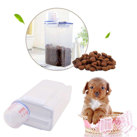 Image of Pet Food Storage Barrels Container w/Measuring Cup - www.peterspetsupplies.com