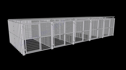 Rhino Dog Kennel 5-Run 6'x12'