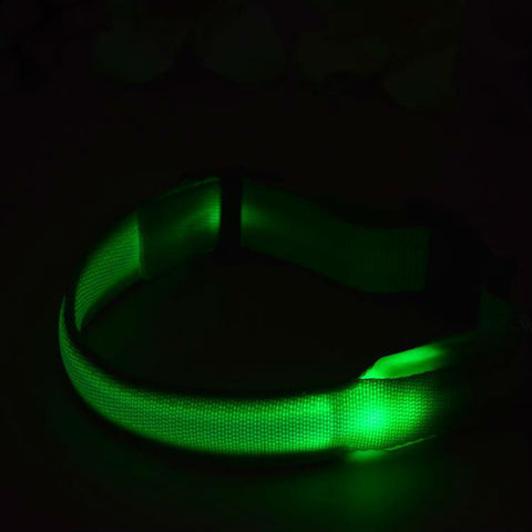 Image of LED Nylon Pet Safety Dogs Collar 7 Colors - www.peterspetsupplies.com