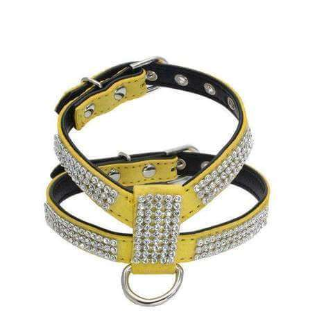 Fashion Bling Rhinestone Harness & Leash for Small Dogs & Cats - www.peterspetsupplies.com