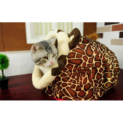 Lion Leopard Giraffe Style Pet Bed for Cats and Dogs - www.peterspetsupplies.com