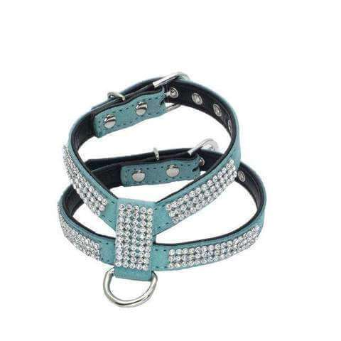 Image of Fashion Bling Rhinestone Harness & Leash for Small Dogs & Cats - www.peterspetsupplies.com