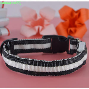 LED Nylon Pet Safety Dogs Collar 7 Colors