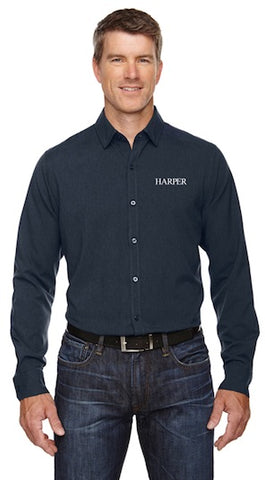 North End Sport Blue Men's Mélange Performance Shirt - Navy