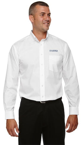 Devon & Jones Men's Solid Broadcloth Dress Shirt - White